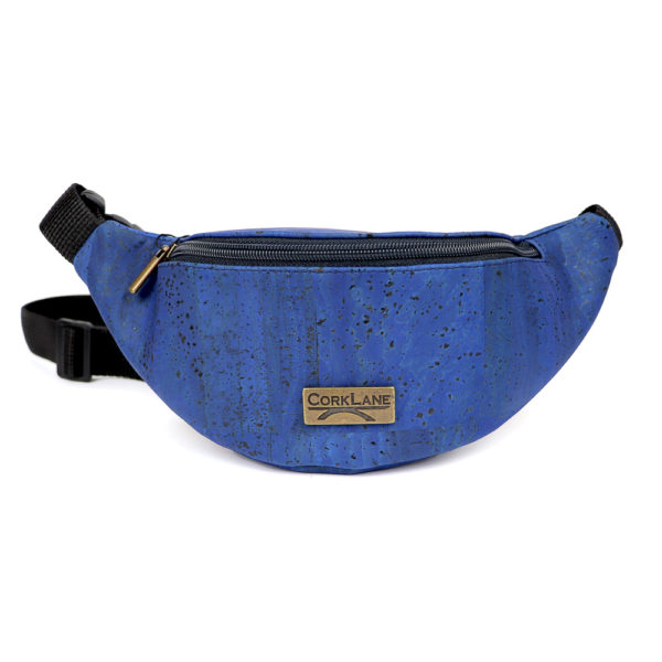 Kork Bauchtasche «CorkLane» blau
