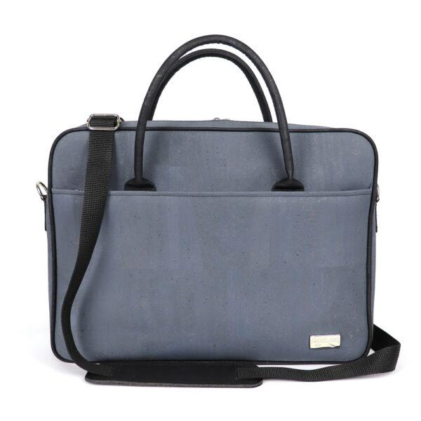 Kork Laptoptasche «CorkLane» blau/grau