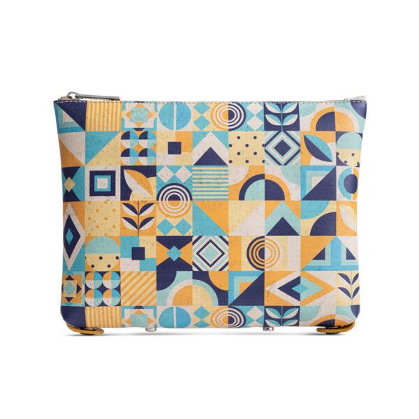 Kork Handtasche «Blue Square» von Artipel