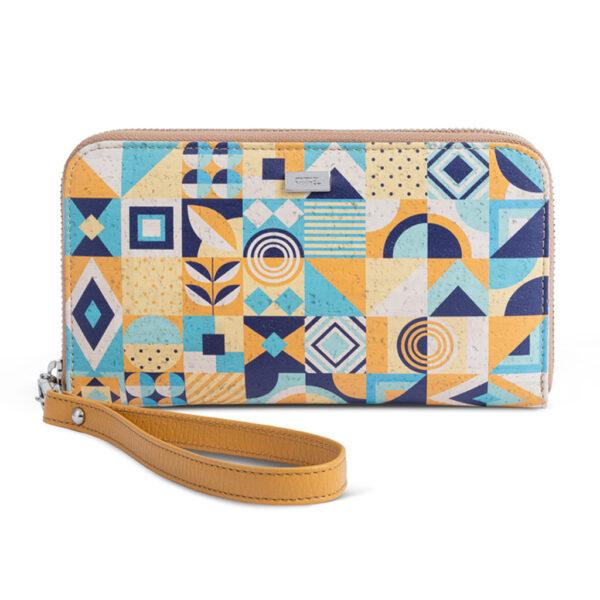 Portemonnaie «Blue Square» aus Kork