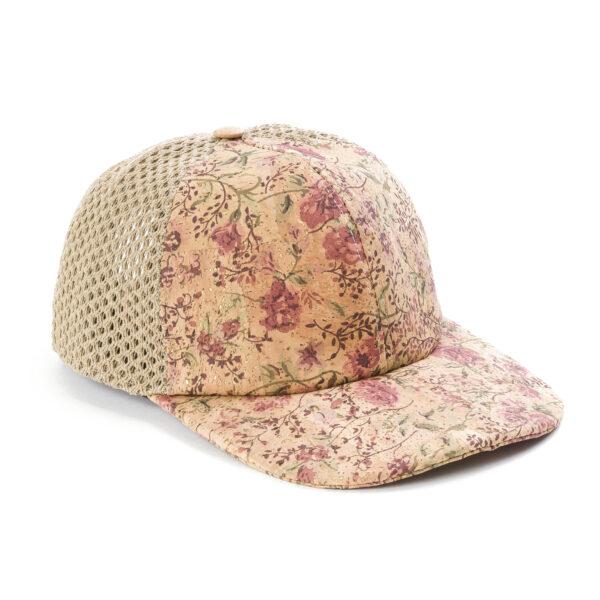 Kork Baseball Cap «Flowers» von Artelusa
