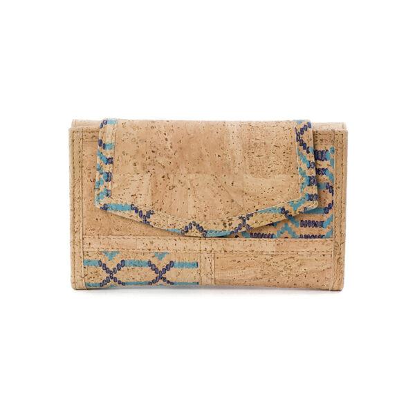 Kork Portemonnaie «Ethnic Blue»