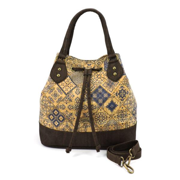 Handtasche «Tiles» aus Korkgewebe