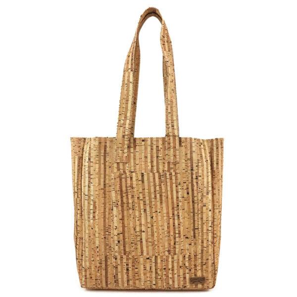 Kork Tasche «Shopping» gestreift