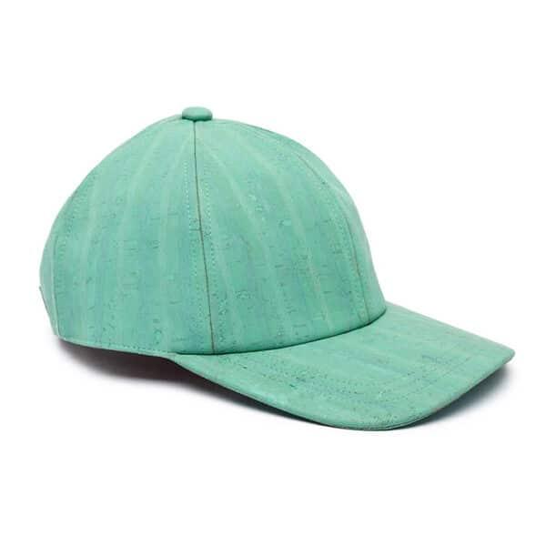 Türkises Baseball Cap «Water Green» aus Kork