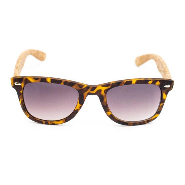 Braune Sonnenbrille mit Kork