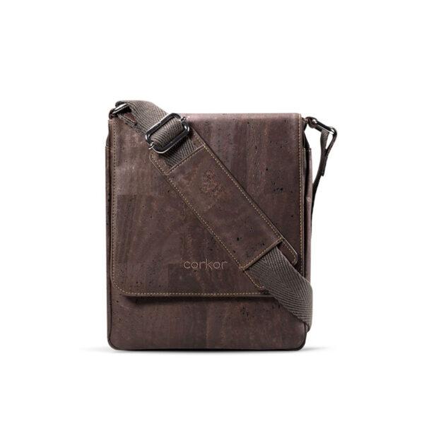 Messengertasche «Corkor M» braun aus Kork
