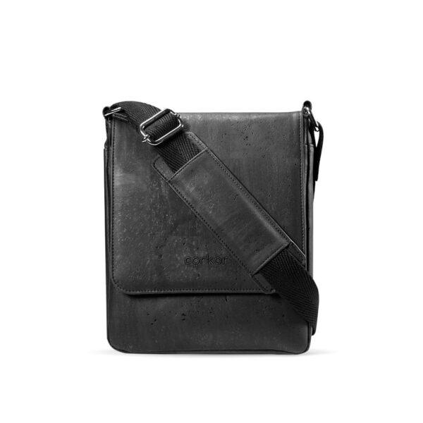 Kork Messenger Tasche «Corkor M» schwarz