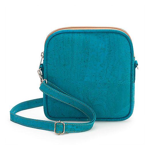 Crossbodytasche aus Kork «Faro» blau