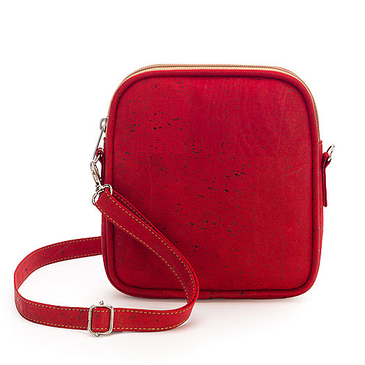 Crossbodytasche aus Kork «Faro» rot