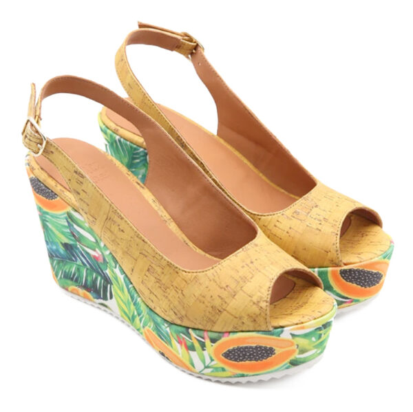 Nachhaltige Damenschuhe aus Kork «Papaya»