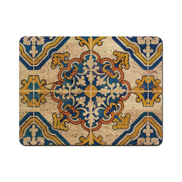 Kork Tischset «Azulejo» von Artipel