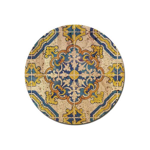 Untersatz «Azulejo» rund aus Kork