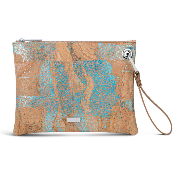 Handtasche «Brilho» blau aus Kork