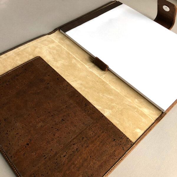 Kork Mappe A4 braun mit Schreibblock