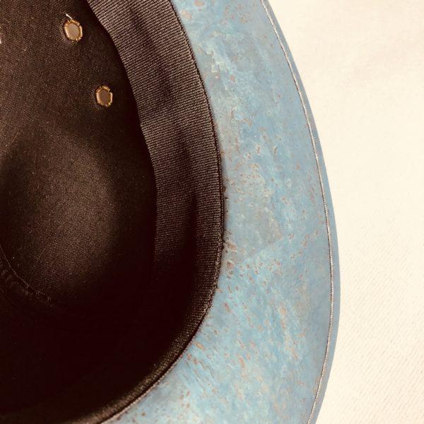 Kork Hut «Knight» blau von Artelusa