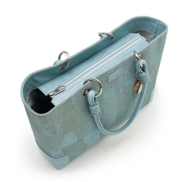 Kork-Handtasche-Butterfly-blau
