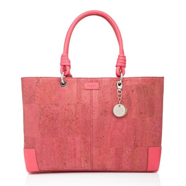 Kork-Handtasche-Butterfly-rosa