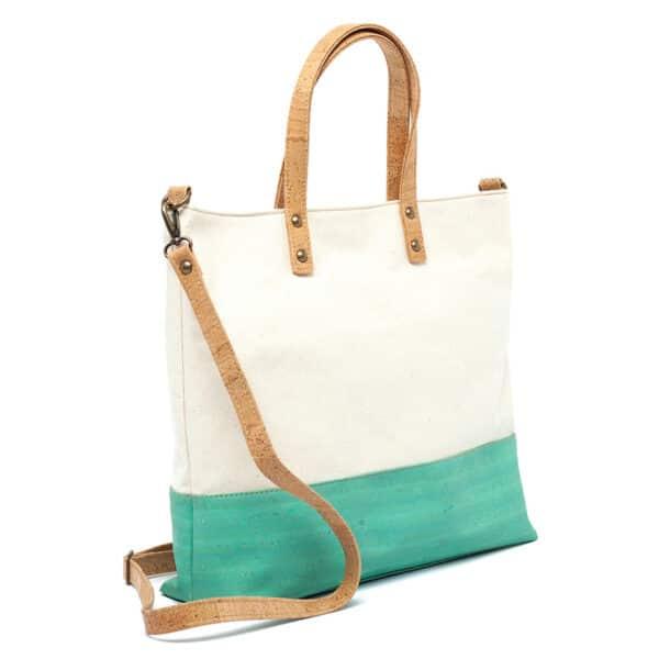 Kork Handtasche «Green Stripe»