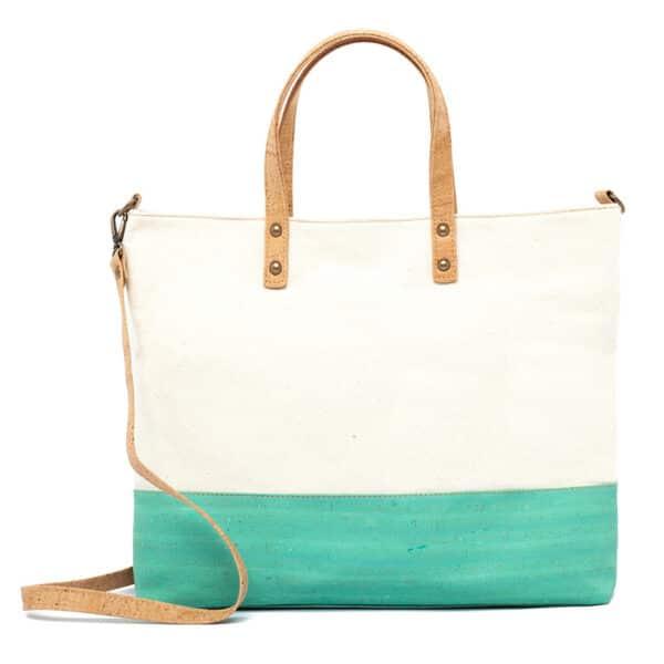 Kork Handtasche Green Stripe