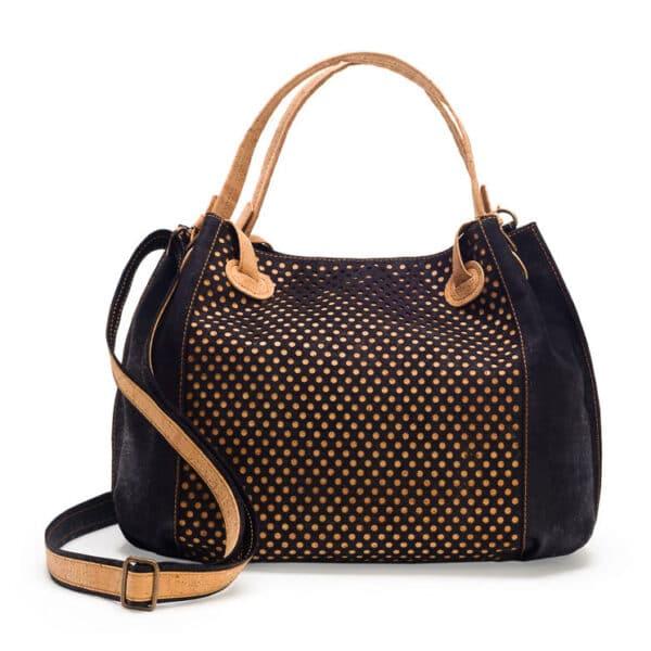 Kork Handtasche «Ponto L» schwarz