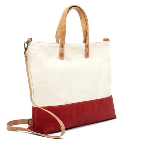 Kork Handtasche «Red Stripe»