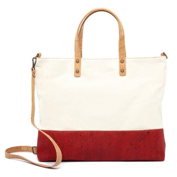 Kork Handtasche Red Stripe