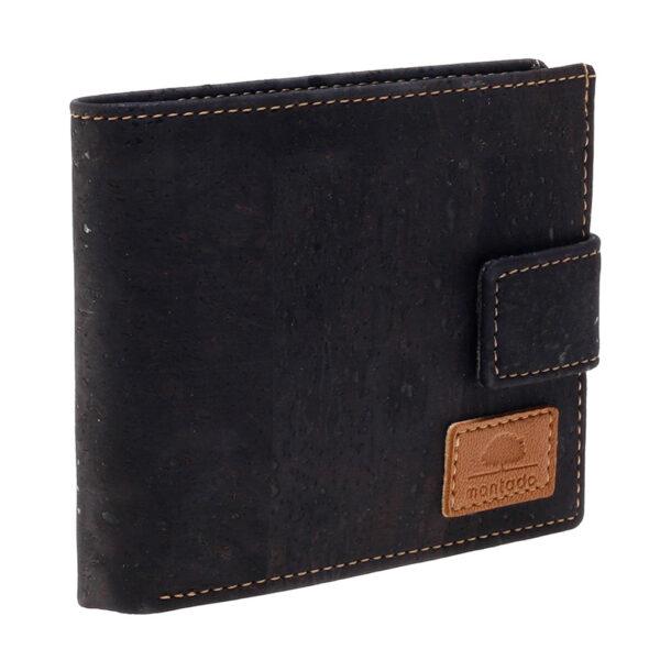 Kork Portemonnaie Black