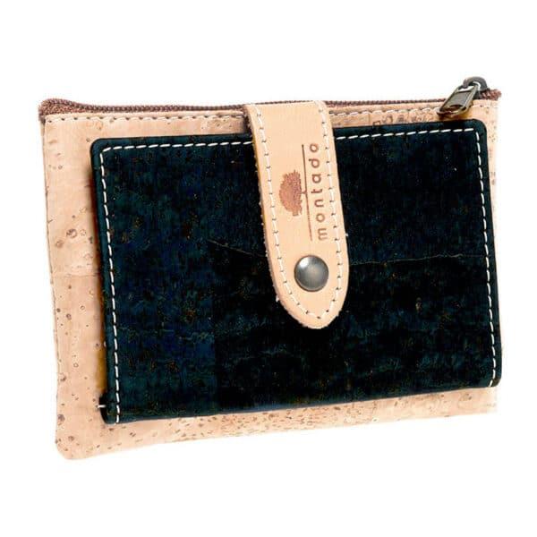 Kork Portemonnaie Clip Black