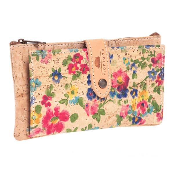 Kork Portemonnaie «Floral» von Montado