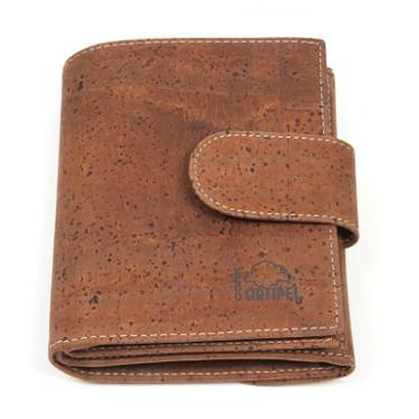 Braunes Kork Portemonnaie «Marrom»