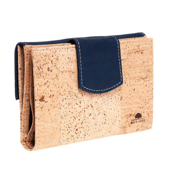 Kork Portemonnaie «Montado» blau
