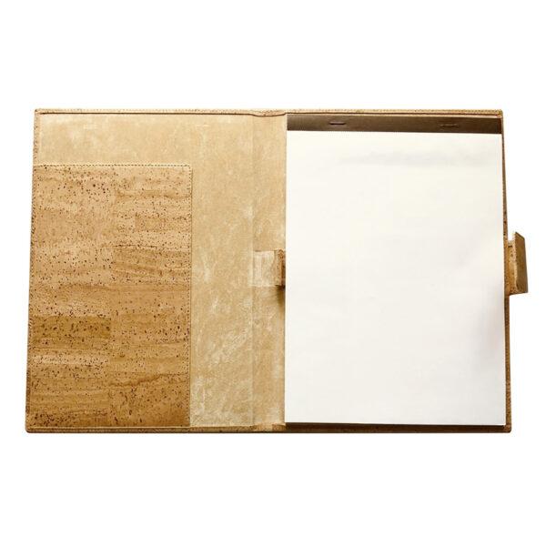 Kork Mappe A4 natural mit Schreibblock