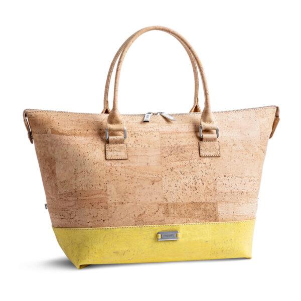 Kork Tasche «Geometric» gelb von Artipel
