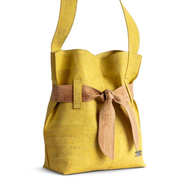 Kork Tasche «Present» gelb