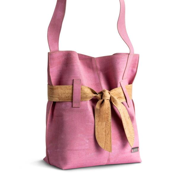 Kork Tasche «Present» rosa