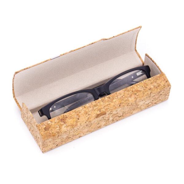Nachhaltiges Brillenetui «Silver» aus Kork
