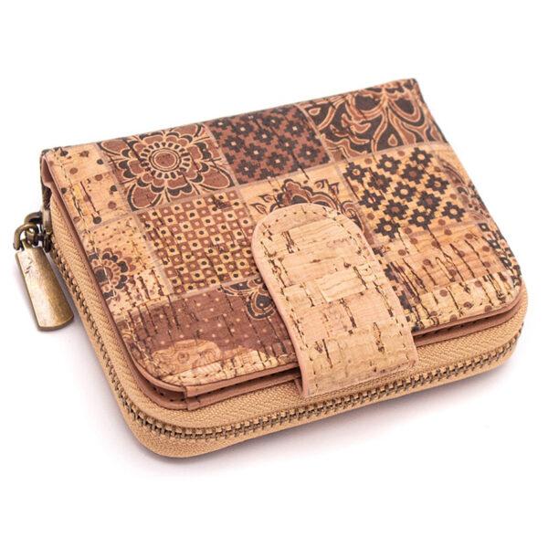 Nachhaltiges Portemonnaie Small Pattern aus Kork