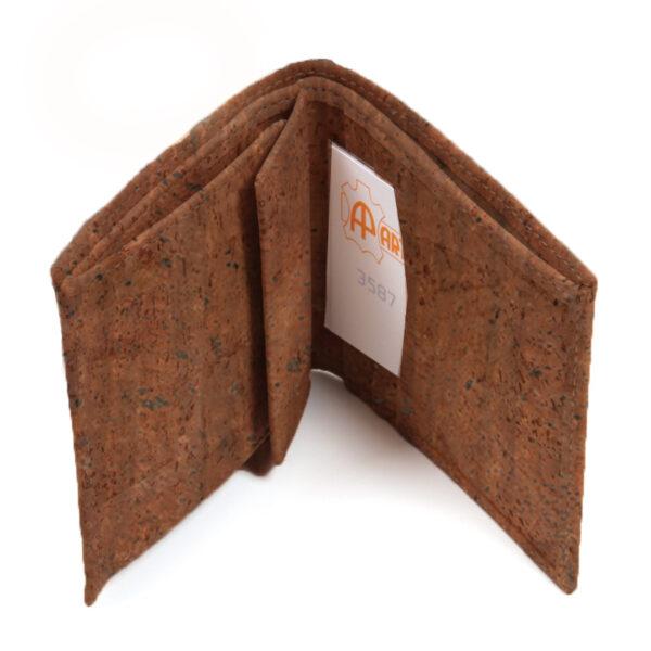 Kork Portemonnaie «Quadrado» braun