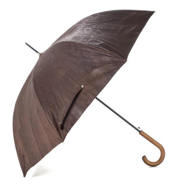 Regenschirm «Chocolate» mit Korkbeschichtung