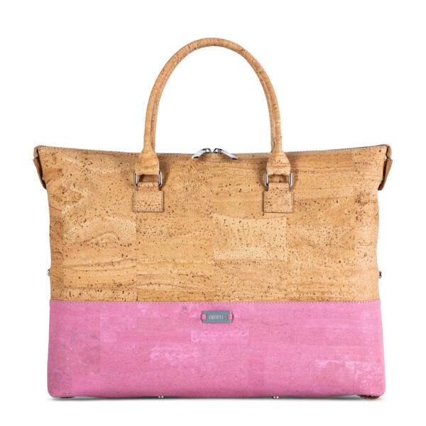 Handtasche «Geometric» rosa aus Kork von Artipel