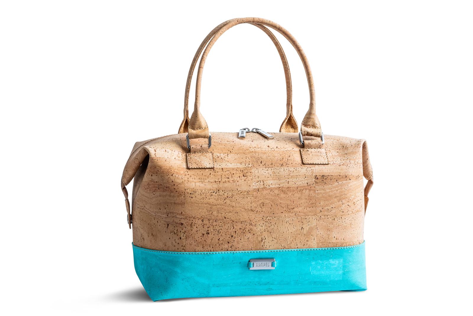 Handtasche «Geometric» türkis