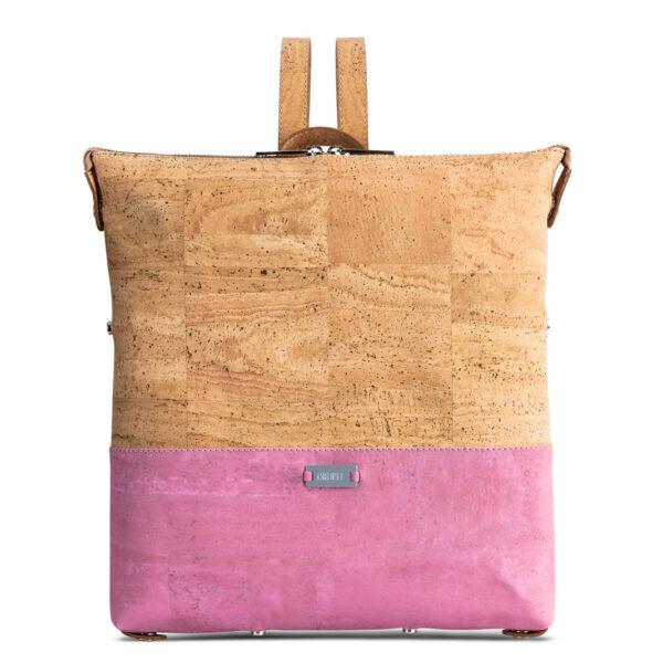 Rucksack «Geometric» rosa aus Kork