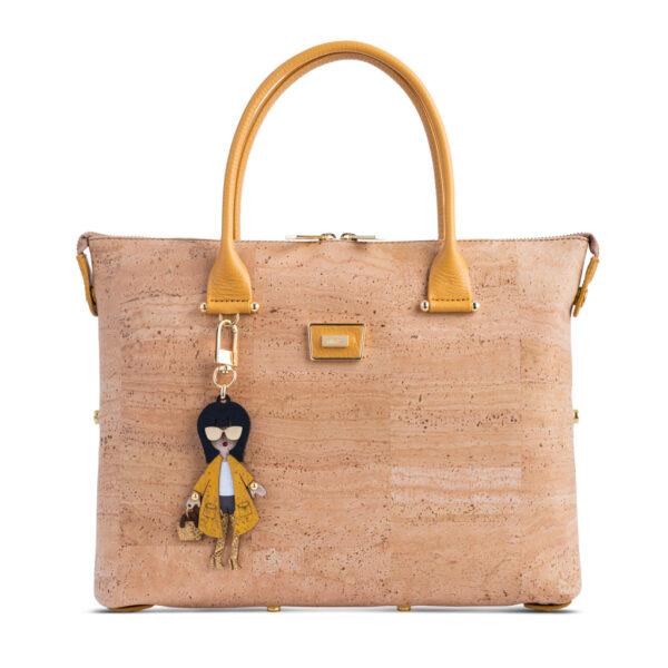 Kork Handtasche «Amarelo» von Artipel
