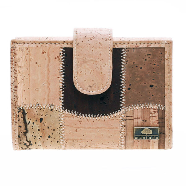 Veganes Portemonnaie aus Kork Patch M